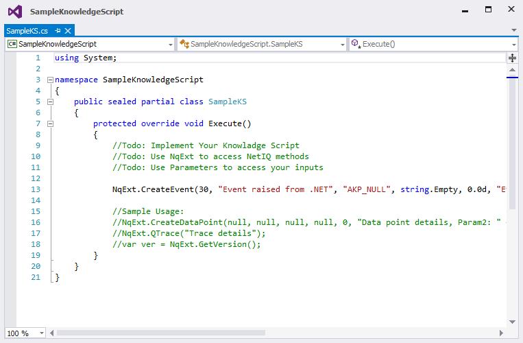Knowledge Script Implementation